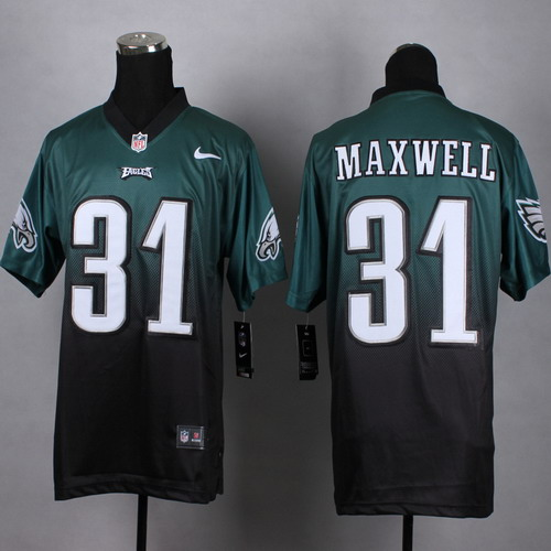 Nike Philadelphia Eagles  31 Byron Maxwell Dark Green Black Fadeaway Elite  Jersey 268a99a2d