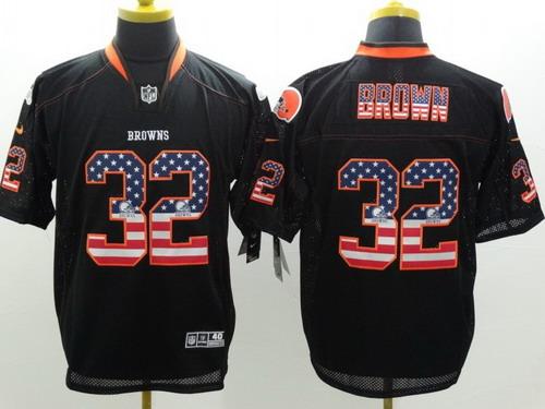 nfl jerseys wholesale baltimore ravens new elite nike cleveland browns 32 jim brown 2014 usa flag fa