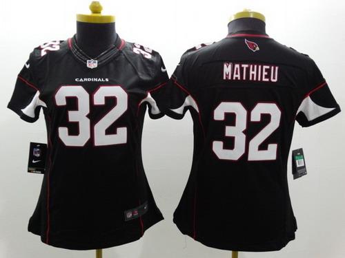 Nike Arizona Cardinals  32 Tyrann Mathieu Black Limited Womens Jersey c42d6af23