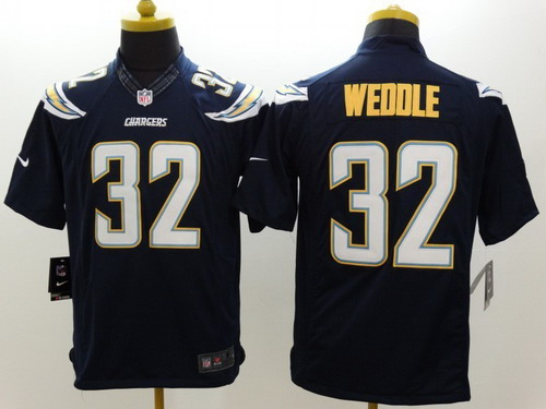 game womens jersey nike san diego chargers 32 eric weddle 2013 navy blue limited jersey .