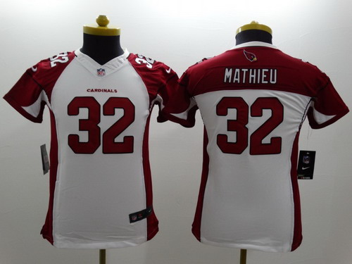 4096c1070 Nike Arizona Cardinals 32 Tyrann Mathieu White Limited Kids Jersey Nike  Arizona Cardinals 93 Calais Campbell ...