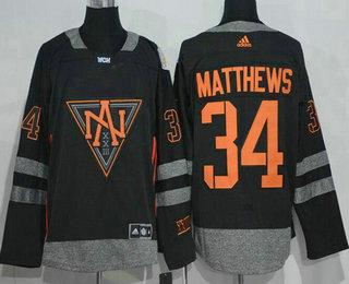 a52ba553b45 ... Jersey Mens North America Hockey 34 Auston Matthews Black 2016 World  Cup of Hockey Stitched adidas ...