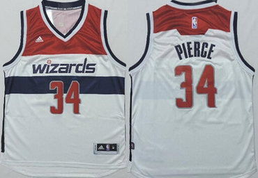 Washington Wizards #34 Paul Pierce Revolution 30 Swingman 2014 New White Jersey