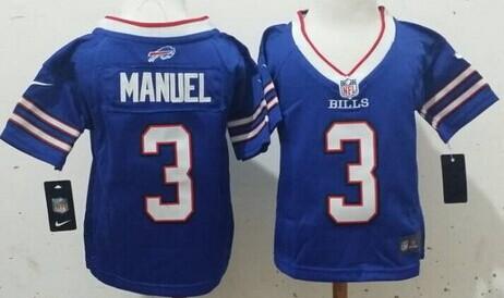Nike Buffalo Bills #3 EJ Manuel 2013 Light Blue Toddlers Jersey