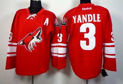 40bac36fe phoenix coyotes 3 keith yandle red jersey