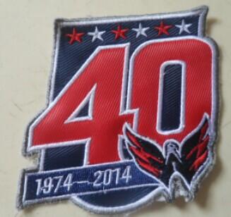pretty nice afb7d beecc washington capitals 40th anniversary patch
