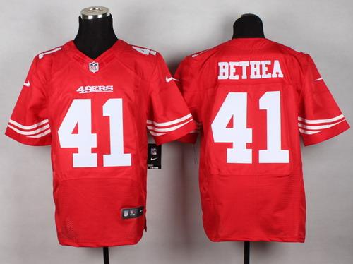 7a91981e8 Nike San Francisco 49ers  41 Antoine Bethea White Elite Jersey on ...