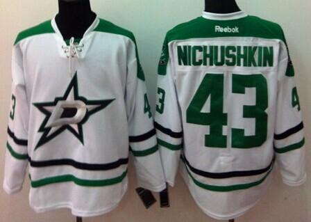 Dallas Stars #43 Valeri Nichushkin 2013 White Jersey