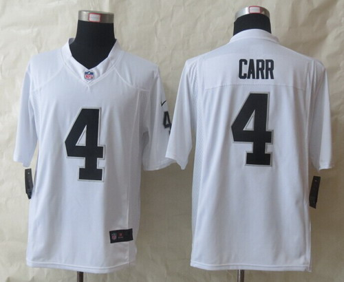 6afd6875aec Nike Oakland Raiders  4 Derek Carr White Limited Jersey on sale