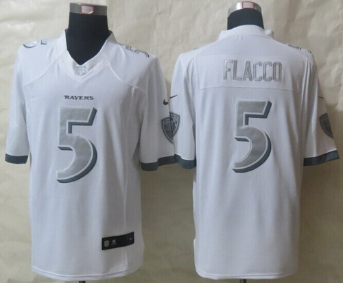 smith platinum white limited jersey nike baltimore ravens 5 joe flacco platinum white limited jersey