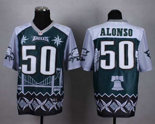 Nike Philadelphia Eagles #50 Kiko Alonso 2015 Noble Fashion Elite Jersey