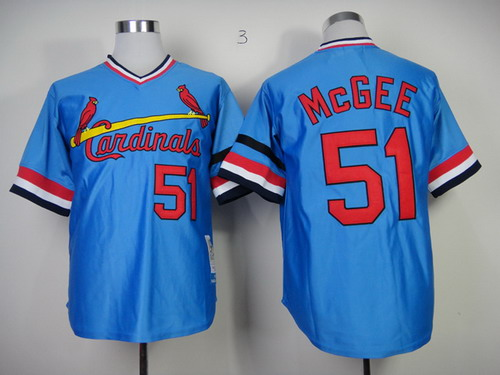 finest selection f5e97 1c797 st. louis cardinals 51 willie mcgee cream throwback jersey
