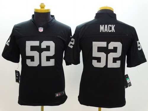 ... 34 Bo Jackson Grey Shadow NFL Jersey Nike Oakland Raiders 52 Khalil  Mack Black Limited Kids Jersey ... a2f4048cf