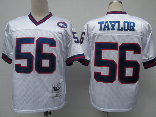 best service 7ddef 73240 new york giants 56 lawrence taylor white throwback jersey