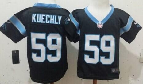 Nike Carolina Panthers #59 Luke Kuechly Black Toddlers Jersey
