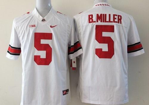 Ohio State Buckeyes #5 Braxton Miller 2014 White Limited Kids Jersey