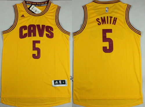 Cleveland Cavaliers  5 J.R. Smith Revolution 30 Swingman 2014 New Yellow  Jersey 91874479f