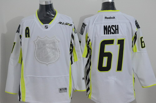 New York Rangers #61 Rick Nash 2015 All-Stars White Jersey