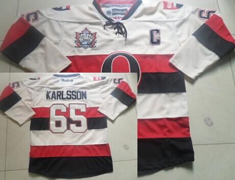Ottawa Senators #65 Erik Karlsson 2014 Heritage Classic Cream Jersey