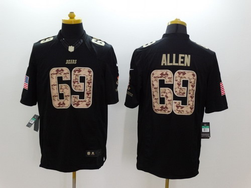 a7dcb4b39 Nike Chicago Bears  69 Jared Allen Salute to Service Black Limited Jersey