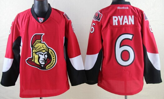 Ottawa Senators #6 Bobby Ryan Red Jersey