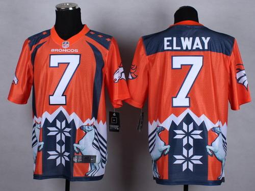 detailed look a84b2 c8fcb Nike Denver Broncos  7 John Elway 2015 Noble Fashion Elite Jersey
