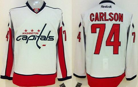 65e4bf6b255 ... Reebok Hockey Jersey Washington Capitals 74 John Carlson White Jersey  Washington Capitals 8 Alex Ovechkin ...