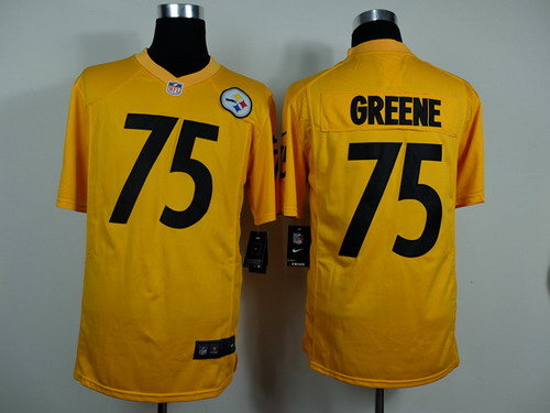 nike pittsburgh steelers 75 joe greene yellow game jersey 7efd5bf39