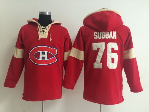 2014 Old Time Hockey Montreal Canadiens #76 P.K. Subban Red Hoodie