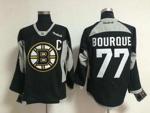 3163a638f ... White Away Premier Jersey Boston Bruins 77 Ray Bourque 2014 Training  Black Jersey ...