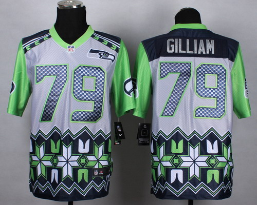 Nike Seattle Seahawks #79 Garry Gilliam 2015 Noble Fashion Elite Jersey