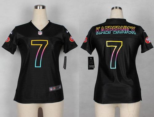 premium selection 1e625 8e657 Nike San Francisco 49ers #7 Colin Kaepernick Red/Black ...