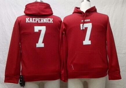 Nike San Francisco 49ers #7 Colin Kaepernick Red Kids Hoodie