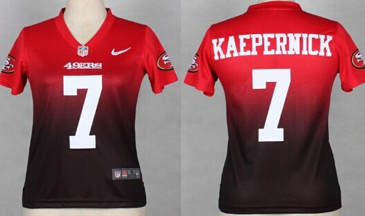 premium selection be4f5 adb82 Nike San Francisco 49ers #7 Colin Kaepernick Red/Black ...