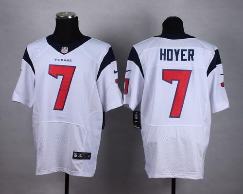 f1443185f ... NFL Houston Texans Nike47107 Nike Houston Texans 7 Brian Hoyer White  Elite Jersey Mens Nike Houston ...
