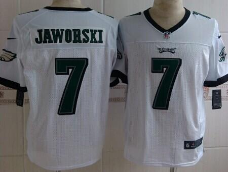 Nike Philadelphia Eagles #7 Ron Jaworski White Elite Jersey