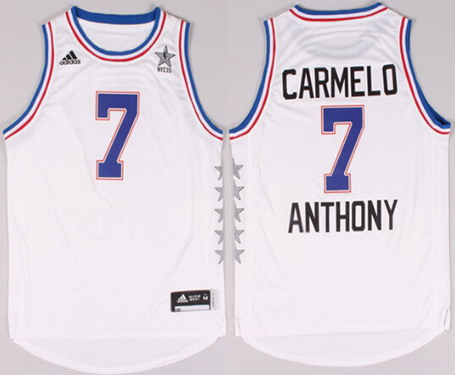 2015 NBA Eastern All-Stars #7 Carmelo Anthony Revolution 30 Swingman White Jersey