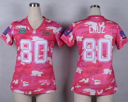 wholesale dealer f8411 7a9c1 nike new york giants 80 victor cruz pink love womens jersey