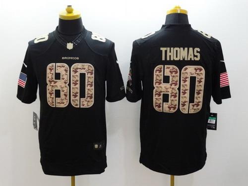 425a73a7e Nike Denver Broncos  80 Julius Thomas Salute to Service Black Limited Jersey