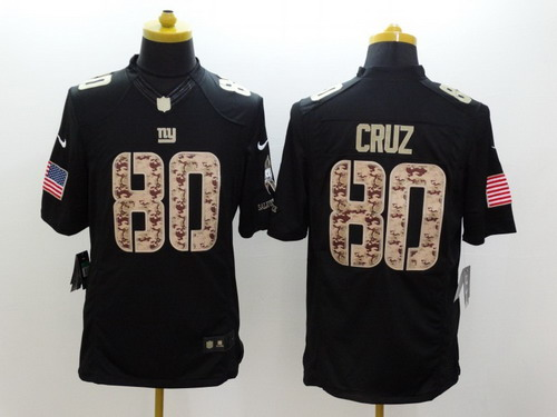 f0c542444 ... authentic nike new york giants 80 victor cruz salute to service black limited  jersey fad20 b4690