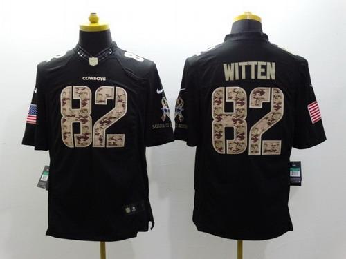 Nike Dallas Cowboys  82 Jason Witten Salute to Service Black Limited Jersey 65f8e8f4b