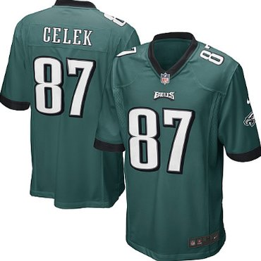 ... Nike Philadelphia Eagles 87 Brent Celek Dark Green Game Kids Jersey Black  Brian Dawkins Nike ... 8cd8fb876