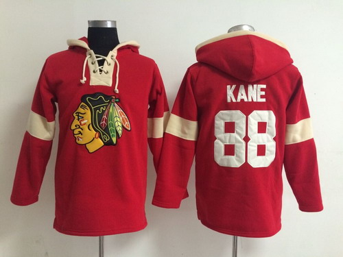 2014 Old Time Hockey Chicago Blackhawks #88 Patrick Kane Red Hoodie