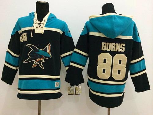buy online 18325 7ecad Black Sharks Burns Hoodie Hockey 88 Old Time Jose San Brent ...