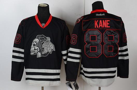 e7d6a7c1f49 chicago blackhawks 88 patrick kane black ice skulls jersey