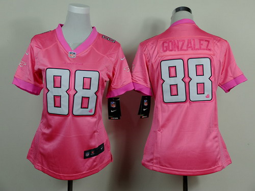 afc28b3b3 NFL Jersey Nike Atlanta Falcons 88 Tony Gonzalez Pink Love Womens Jersey  White Julio Jones Nike Mens Elite ...