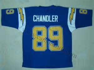 San Diego Chargers #89 Wes Chandler Navy Blue Throwback Jersey