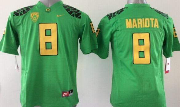 Oregon Ducks #8 Marcus Mariota 2013 Light Green Limited Kids Jersey