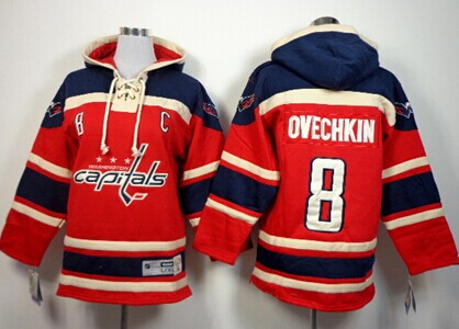 Old Time Hockey Washington Capitals #8 Alex Ovechkin Red Kids Hoodie