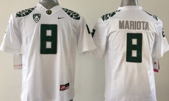 Oregon Ducks #8 Marcus Mariota 2013 White Limited Kids Jersey
